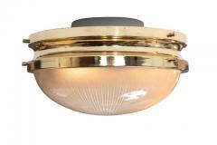 Sergio Mazza 1960s Sergio Mazza Brass Sigma Wall or Ceiling Lights for Artemide - 909655