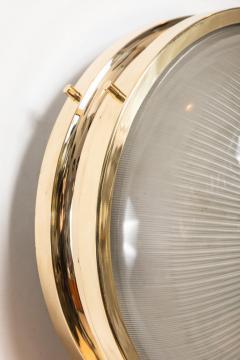 Sergio Mazza 1960s Sergio Mazza Brass Sigma Wall or Ceiling Lights for Artemide - 909659