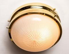 Sergio Mazza 1960s Sergio Mazza Brass Sigma Wall or Ceiling Lights for Artemide - 1043466