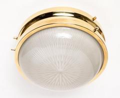 Sergio Mazza 1960s Sergio Mazza Brass Sigma Wall or Ceiling Lights for Artemide - 1043467