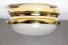 Sergio Mazza 1960s Sergio Mazza Brass Sigma Wall or Ceiling Lights for Artemide - 1043472