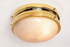 Sergio Mazza 1960s Sergio Mazza Brass Sigma Wall or Ceiling Lights for Artemide - 1043473