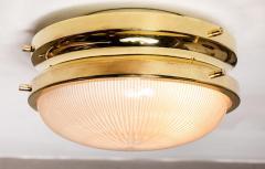 Sergio Mazza 1960s Sergio Mazza Brass Sigma Wall or Ceiling Lights for Artemide - 1043474