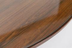 Sergio Mazza Italian Circular Rosewood Dining Table with Glass Inlay c 1950 - 1089361