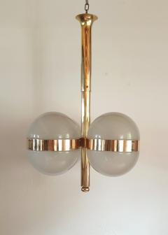 Sergio Mazza Large Mid Century Modern Tetraclio chandelier by Sergio Mazza for Artemide - 1056337
