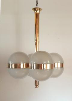 Sergio Mazza Large Mid Century Modern Tetraclio chandelier by Sergio Mazza for Artemide - 1056338