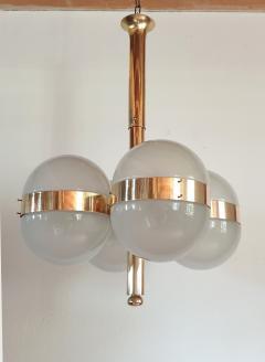 Sergio Mazza Large Mid Century Modern Tetraclio chandelier by Sergio Mazza for Artemide - 1056339