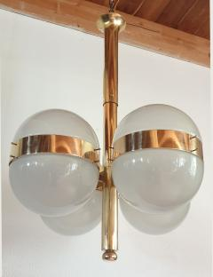 Sergio Mazza Large Mid Century Modern Tetraclio chandelier by Sergio Mazza for Artemide - 1056344
