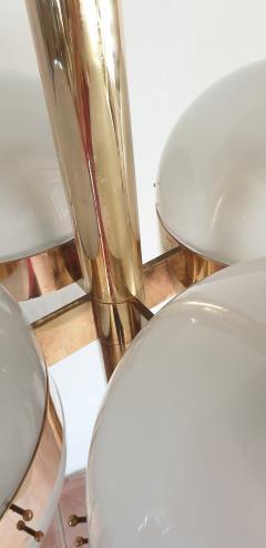 Sergio Mazza Large Mid Century Modern Tetraclio chandelier by Sergio Mazza for Artemide - 1056346