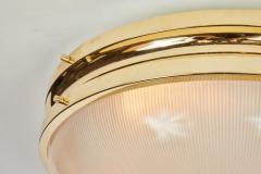 Sergio Mazza Pair of Large 1960s Sergio Mazza Brass Sigma Lamps for Artemide - 1168232