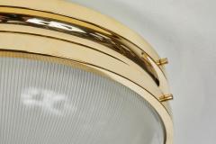 Sergio Mazza Pair of Large 1960s Sergio Mazza Brass Sigma Lamps for Artemide - 1168234