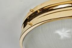 Sergio Mazza Pair of Large 1960s Sergio Mazza Brass Sigma Lamps for Artemide - 1168236