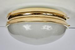 Sergio Mazza Pair of Large 1960s Sergio Mazza Brass Sigma Lamps for Artemide - 1168237