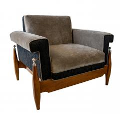 Sergio Rodrigues Fine Pair of Brazilian Rosewood Club Chairs - 972914