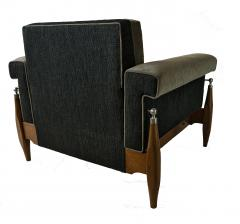 Sergio Rodrigues Fine Pair of Brazilian Rosewood Club Chairs - 972915