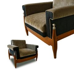 Sergio Rodrigues Fine Pair of Brazilian Rosewood Club Chairs - 972925