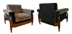 Sergio Rodrigues Fine Pair of Brazilian Rosewood Club Chairs - 972932