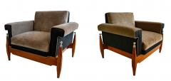 Sergio Rodrigues Fine Pair of Brazilian Rosewood Club Chairs - 972933