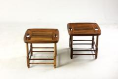 Sergio Rodrigues Mid Century Modern Pair of Magrini Stools by Sergio Rodrigues Brazil 1960s - 1371810