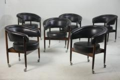 Sergio Rodrigues Mid century Modern Beg Armchair by Sergio Rodrigues Brazil 1960s set of 6  - 1529595