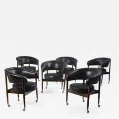Sergio Rodrigues Mid century Modern Beg Armchair by Sergio Rodrigues Brazil 1960s set of 6  - 1530387