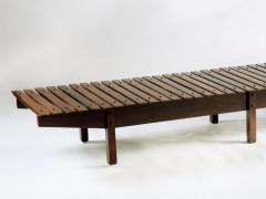 Sergio Rodrigues Mid century modern Mucki Bench by Brazilian designer Sergio Rodrigues - 1222337