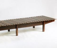 Sergio Rodrigues Mid century modern Mucki Bench by Brazilian designer Sergio Rodrigues - 1222340