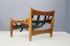 Sergio Rodrigues Sergio Rodrigues for Isa Bergamo Sheriff Lounge Chair and ottoman signed 1950s - 1508813