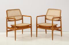 Sergio Rodrigues Set of Two Mid Century Modern Oscar Armchairs by Sergio Rodrigues Brazil 1956 - 2044670