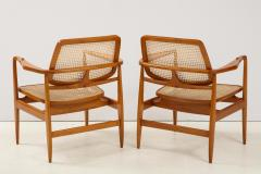 Sergio Rodrigues Set of Two Mid Century Modern Oscar Armchairs by Sergio Rodrigues Brazil 1956 - 2044677