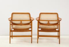 Sergio Rodrigues Set of Two Mid Century Modern Oscar Armchairs by Sergio Rodrigues Brazil 1956 - 2044679