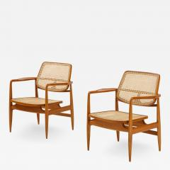 Sergio Rodrigues Set of Two Mid Century Modern Oscar Armchairs by Sergio Rodrigues Brazil 1956 - 2049346