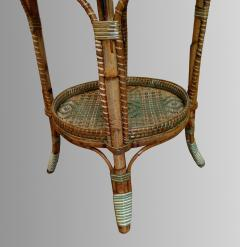 Serving table in woven and lacquered rattan France circa 1900 - 1629240