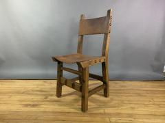 Set Eight Early 1900s Spanish Leather Dining Chairs - 1722652