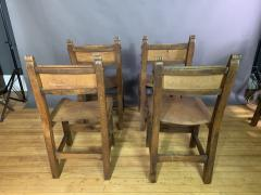 Set Eight Early 1900s Spanish Leather Dining Chairs - 1722656