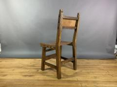 Set Eight Early 1900s Spanish Leather Dining Chairs - 1722658
