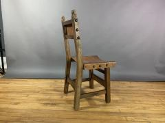 Set Eight Early 1900s Spanish Leather Dining Chairs - 1722659