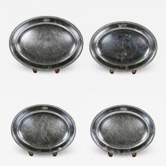 Set Of Four Regency Silver Plated Platters By Matthew Boulton - 1736586