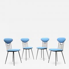 Set light blue leatherette chair 1950s - 1947302