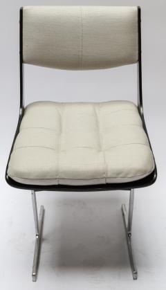 Set of 10 1960s Brazilian Jacaranda Tufted Dining Chairs in Beige Linen - 983069