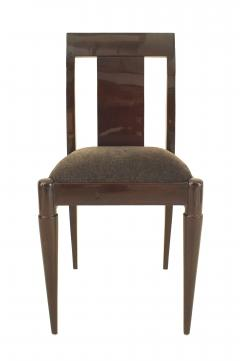 Set of 12 French Art Deco Oak Side Chairs - 1378325