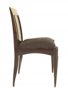Set of 12 French Art Deco Oak Side Chairs - 1378327