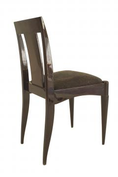 Set of 12 French Art Deco Oak Side Chairs - 1378328