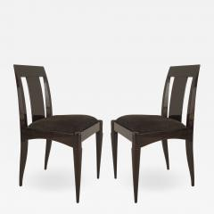 Set of 12 French Art Deco Oak Side Chairs - 1382881