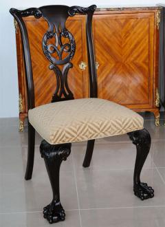 Set of 12 Irish George II Style Elm Chairs circa 1880 - 391166