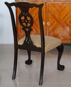 Set of 12 Irish George II Style Elm Chairs circa 1880 - 391169
