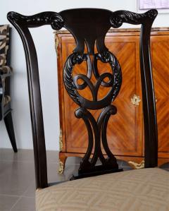 Set of 12 Irish George II Style Elm Chairs circa 1880 - 391171