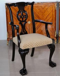 Set of 12 Irish George II Style Elm Chairs circa 1880 - 391173