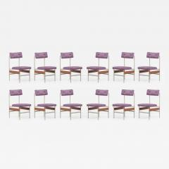 Set of 12 Upholstered Dining Chairs Italy 1960s - 2078869