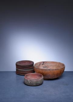 Set of 13 Swedish Folk Art Wooden Pieces - 846607